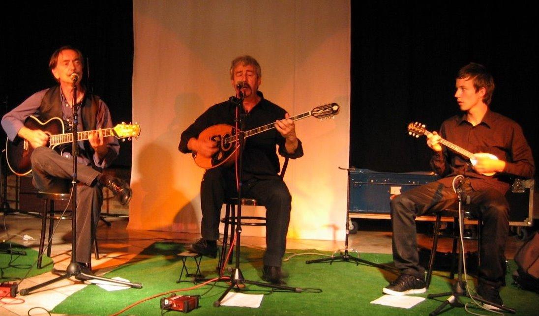 Nicolas, son fils Yorgos et Menelas concert de Rebetiko Ete 2009